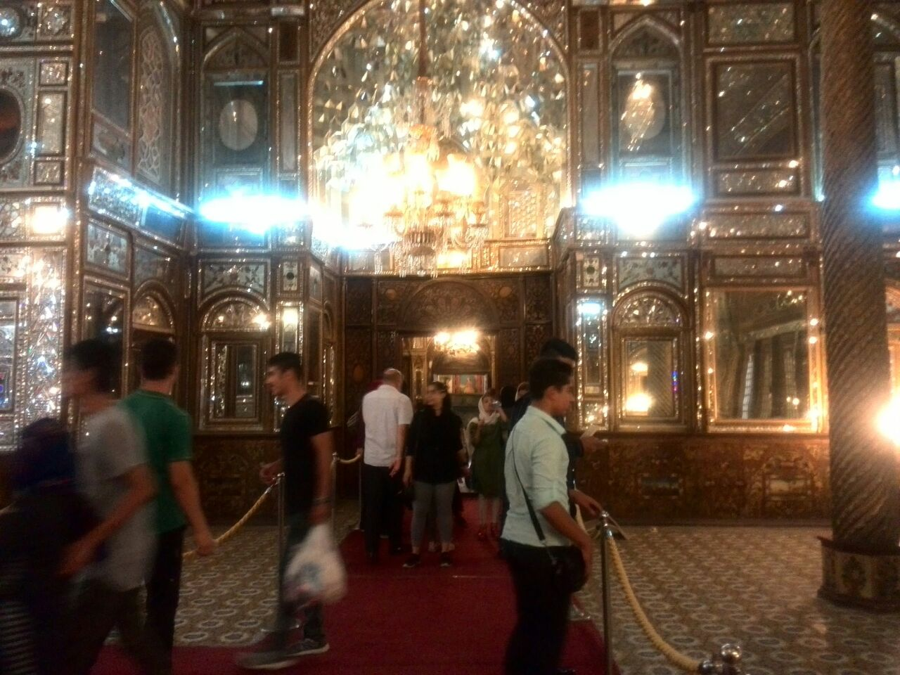 Some children and teenagers under support of Mehrafarin visited Golestan palace as a fun and educational one-day trip