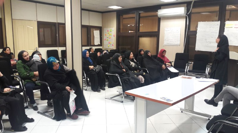 Workshop was held for Mehrafarin members about preventing sexually transmitted disease