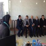 مسوولین شرکت مادر تخصصی عمران و بهسازی تهران از ٬ شعبه خط چهار حصار موسسه  مهرآرین بازدید  کردند