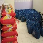 توزیع پک غذایی در مرکز جدید مهرآفرین(گزارش تصویری)