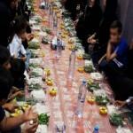 حضور ۱۰۰ مددجو در ضیافت افطار