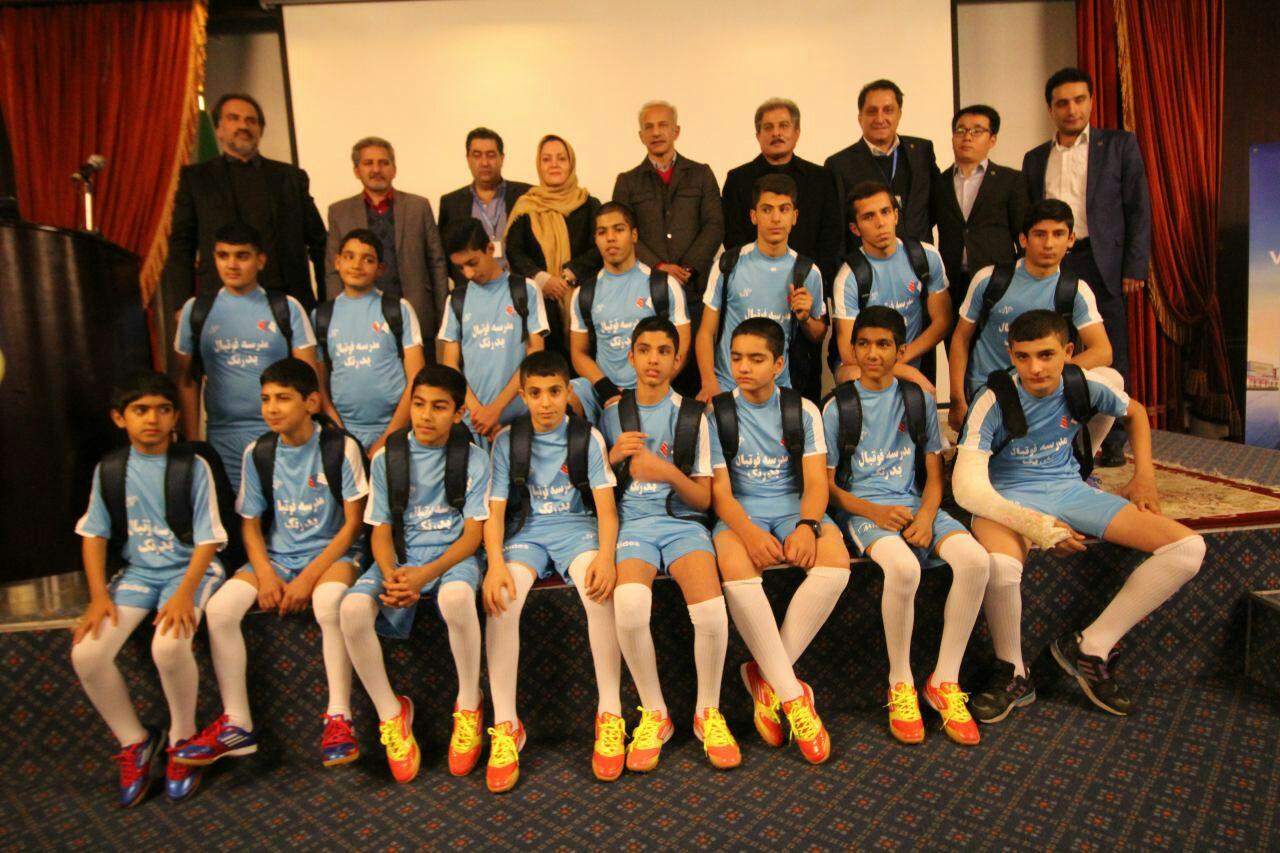 مراسم استعداد یابی نوجوانان فوتبالیست مهرآفرین