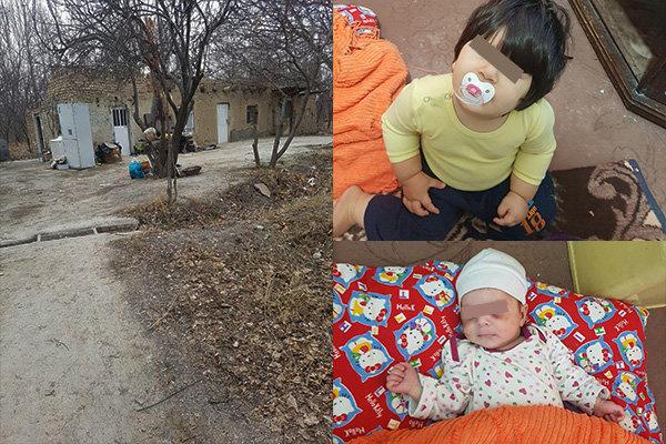 ضرب و شتم دو کودک چند ماهه توسط مادر/ ۲۵ روز زندگی در باغ