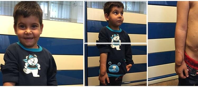 درمان دست محمد رضا در دست ماست
