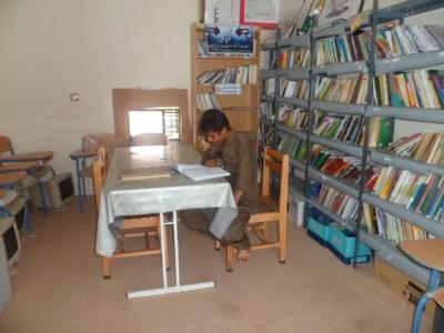 کتابخانه روستای کتیج تجهیز شد