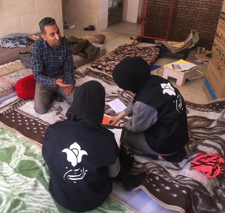 تیم مددکاری مهرآفرین در مناطق سیل زده مستقر شد
