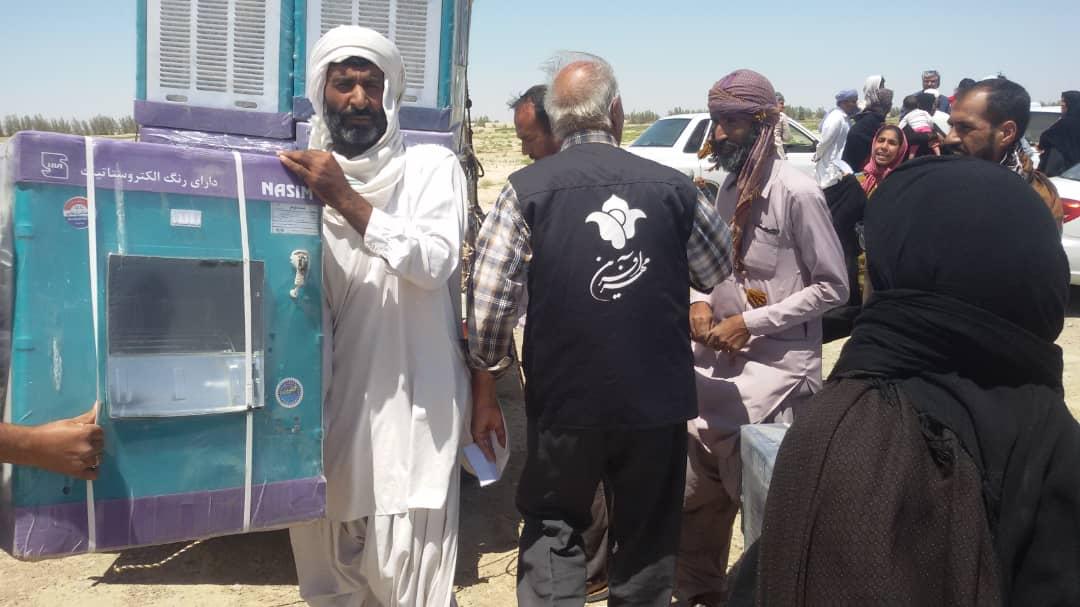 نیاز مبرم مناطق سیلزده به کولر آبی/ گزارشی از اقدامات مهرآفرین در امدادرسانی به سیلزدگان سیستان و بلوچستان