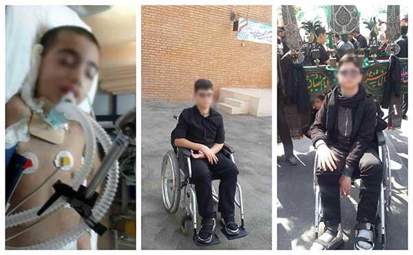 کمک کنیم مسعود روی پاهایش بایستد/این پسر ۱۵ ساله یک بار به زندگی برگشته است