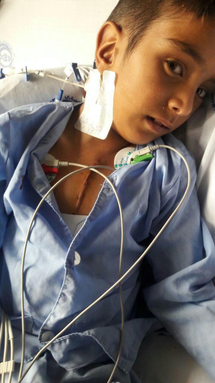 نگذاشتید خاموش بشود!محمد با یاری یاوران مهرآفرین عمل جراحی شد
