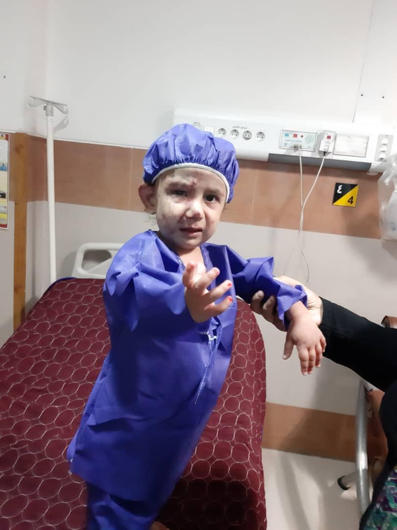 سانیا چهره طبیعیاش را به دست آورد/ روند درمان کودک ۲۳ ماهه با حمایت یاوران