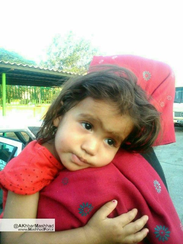 ملیکا کوچولوی گمشده مشهدی پیدا شد