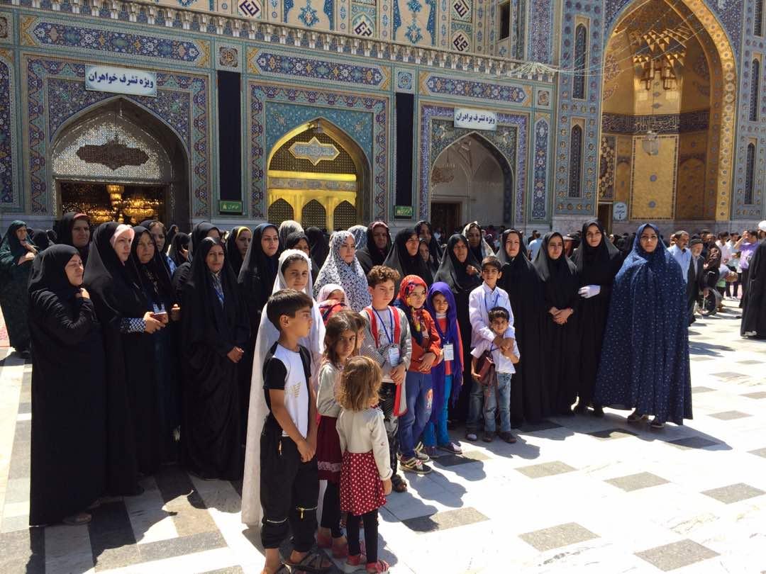 امسال چون سال های گذشته اول مارکت میزبان مادران و کودکان تحت حمایت موسسه در مشهد مقدس بود